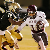 Thomas Wells | Buy at PHOTOS.DJOURNAL.COM<br /> New Albany's Zack Ball found themselves only behind by one point 8-7 at the half against Amory.