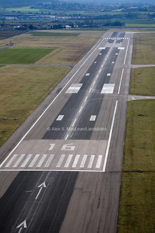 Airport Runway, Lyon, France.