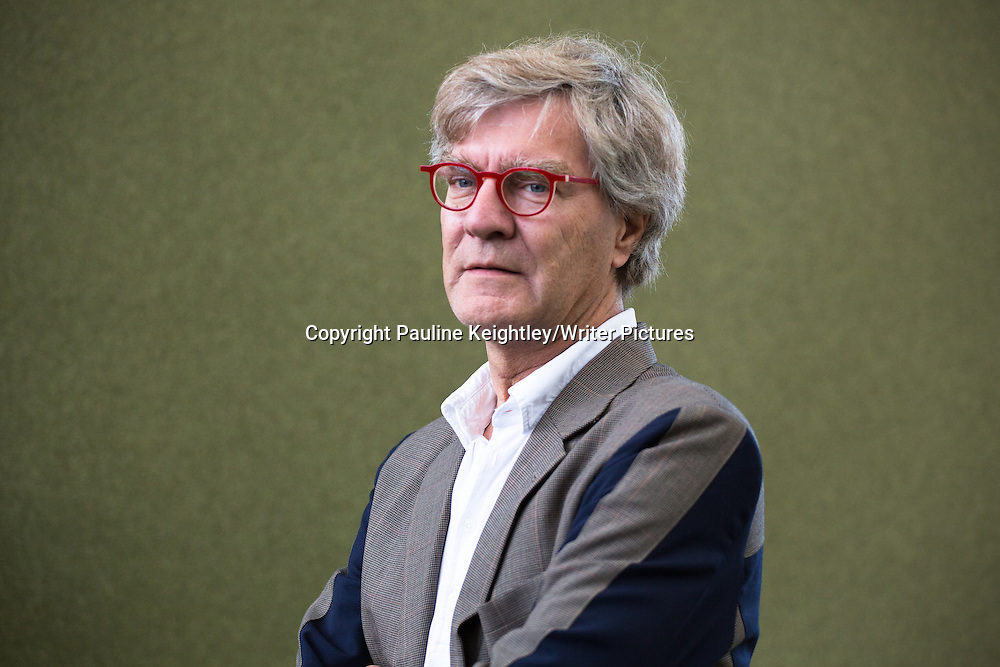 Otto de Kat, Dutch  novelist, discussed his book News from Berlin, at Edinburgh International book festival 2014. 13th August 2014. Edinburgh Scotland. <br /> <br /> Picture by Pauline Keightley/Writer Pictures