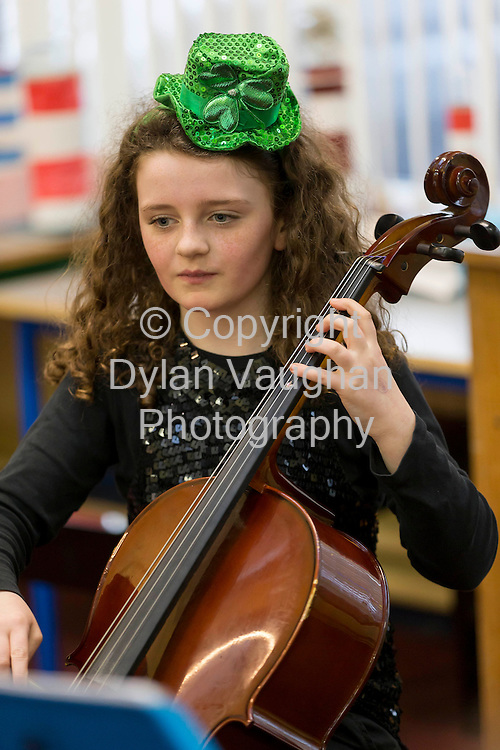 """9/3/2013.Pictured at the Kilkenny Music Festival Competition for Primary Schools at St Canice's Co-Ed Primary School was Robyn Walsh  from the group """" Casals Cello Quintet """".Picture Dylan Vaughan. ......"""