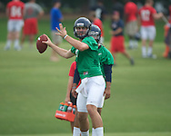 Ole Miss' Ryan Buchanan at football practice in Oxford, Miss. on Saturday, August 3, 2013.