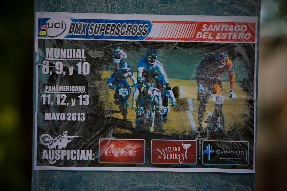 at the UCI BMX Supercross World Cup in Santiago del Estero, Argintina