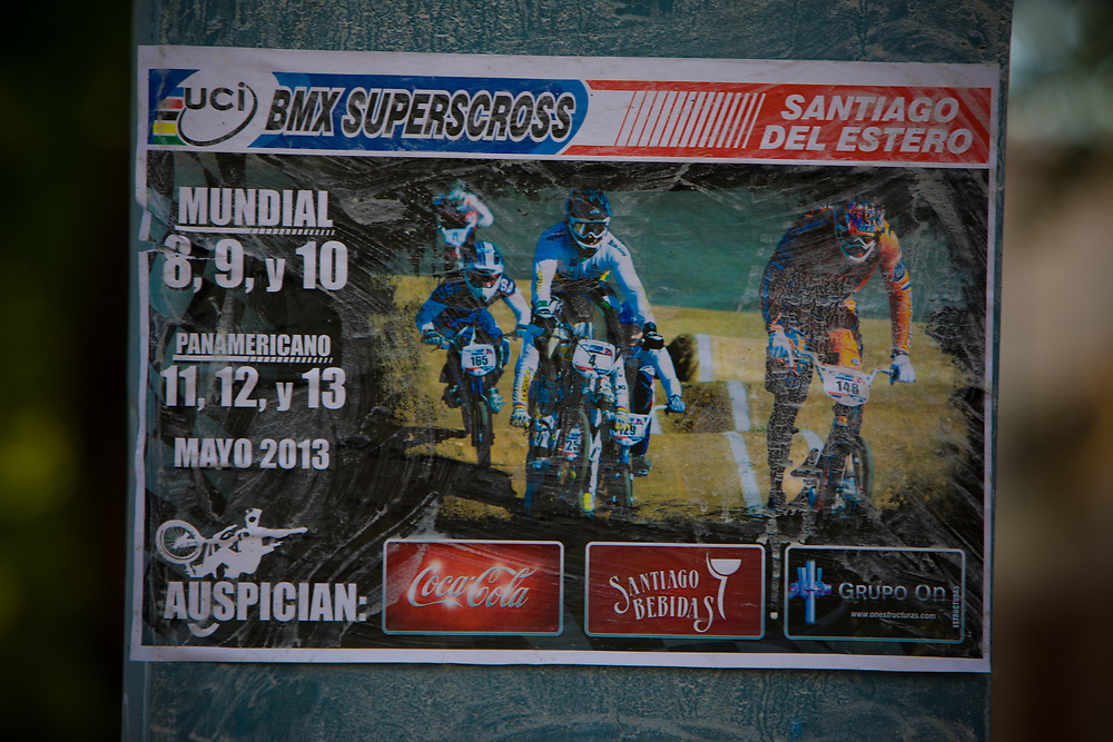 at the UCI BMX Supercross World Cup in Santiago del Estero, Argintina