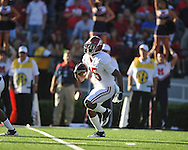 Alabama wide receiver Darius Hanks (15) returns a kickoff vs. Alabama at Vaught-Hemingway Stadium in Oxford, Miss. on Saturday, October 14, 2011. Alabama won 52-7.