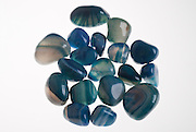 Assortment of blue agate Gemstones