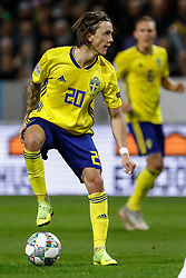 November 20, 2018 - Stockholm, Sweden - Kristoffer Olsson of Sweden in action during the UEFA Nations League B Group 2 match between Sweden and Russia on November 20, 2018 at Friends Arena in Stockholm, Sweden. (Credit Image: © Mike Kireev/NurPhoto via ZUMA Press)