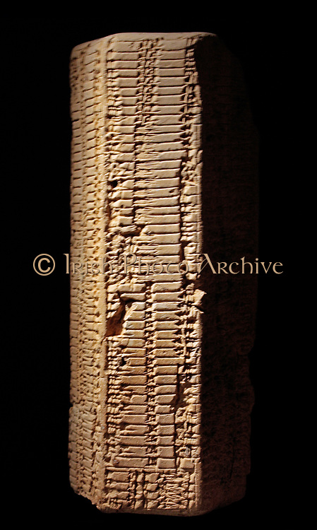 Clay prism with table of linear measures and square roots, 1950-1700 BC.  Southern Iraq.  No provenance.