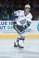 KELOWNA, CANADA - NOVEMBER 20: Chaz Reddekopp #29 of the Victoria Royals skates against the Kelowna Rockets on November 20, 2013 at Prospera Place in Kelowna, British Columbia, Canada.   (Photo by Marissa Baecker/Shoot the Breeze)  ***  Local Caption  ***