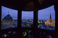 France. Paris. Elevated view  on the Conciergerie and Paris cityscape. the Sainte Chapelle . view from the Conciergerie Bell tower  Paris  France