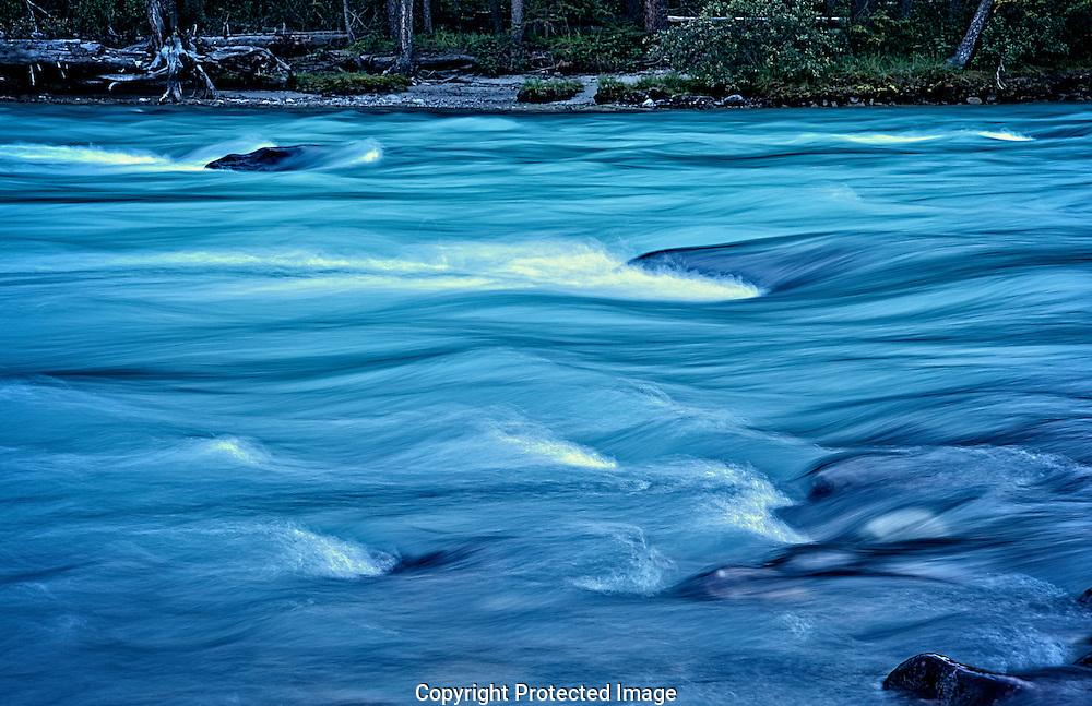 Bow river at dusk., Alberta, canada, Isobel Springett