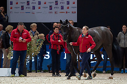 Isabell WERTH ( GER) & Weihegold OLD - Horse Inspection - FEI World Cup™ Dressage Final - Longines FEI World Cup Finals Paris - Accor Hotels Arena, Bercy, Paris, France - 12 April 2018