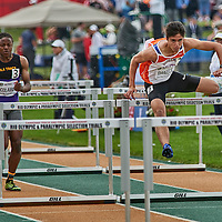 Joseph Daniels makes easy work of the Junior Men's 110m Hurdles advancing to the final with a time of 13.77