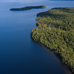 Moosehead Lake from the air above Rockwood Maine USA