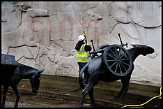 MAY 28 2013 War Memorials defaced with Islamic slogans