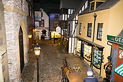 "Victorian reconstruction of Kirkgate street. York Castle Museum was founded in 1938 by Dr John Kirk, a doctor from Pickering, North Yorkshire. The museum houses Kirk's extraordinary collection of social history, reflecting everyday life in the county. The York Castle Museum is housed in a former debtors' prison (built in 1701–05 using stone from castle ruins) and in an adjoining former women's prison (built 1780–85) in North Yorkshire, England. Originally built by William the Conqueror in 1068, York Castle features a ruined keep now called ""Clifford's Tower."""