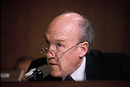 Senator Alan Simpson at a Senate Judiciary Committee hearing in April 1991,<br /> Photo by Dennis Brack