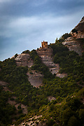 Tebes area, near Ermita Sant Joan and the Sant Joan Funicular, Montserrat, mountain, Catalonia