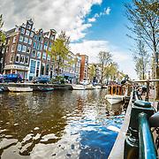 20160504 Grachten Amsterdam via een fisheye