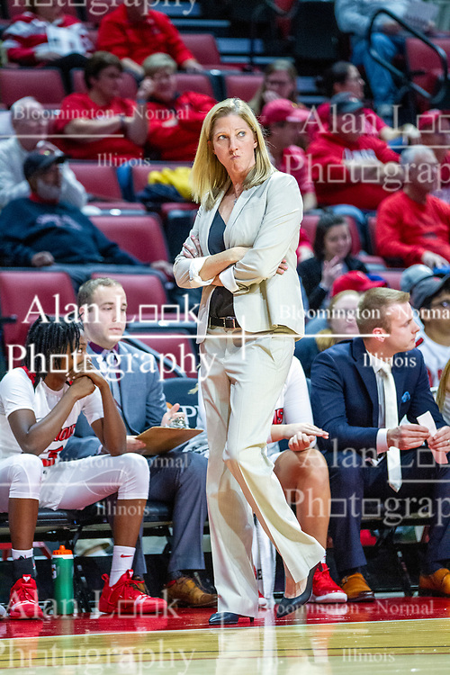 NORMAL, IL - November 20: Kristen Gillespie during a college women's basketball game between the ISU Redbirds and the Huskies of Northern Illinois November 20 2019 at Redbird Arena in Normal, IL. (Photo by Alan Look)
