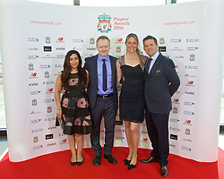 LIVERPOOL, ENGLAND - Thursday, May 12, 2016: Liverpool's xxxx, xxxx, xxxx and Matthew Baxter arrive on the red carpet for the Liverpool FC Players' Awards Dinner 2016 at the Liverpool Arena. (Pic by David Rawcliffe/Propaganda)