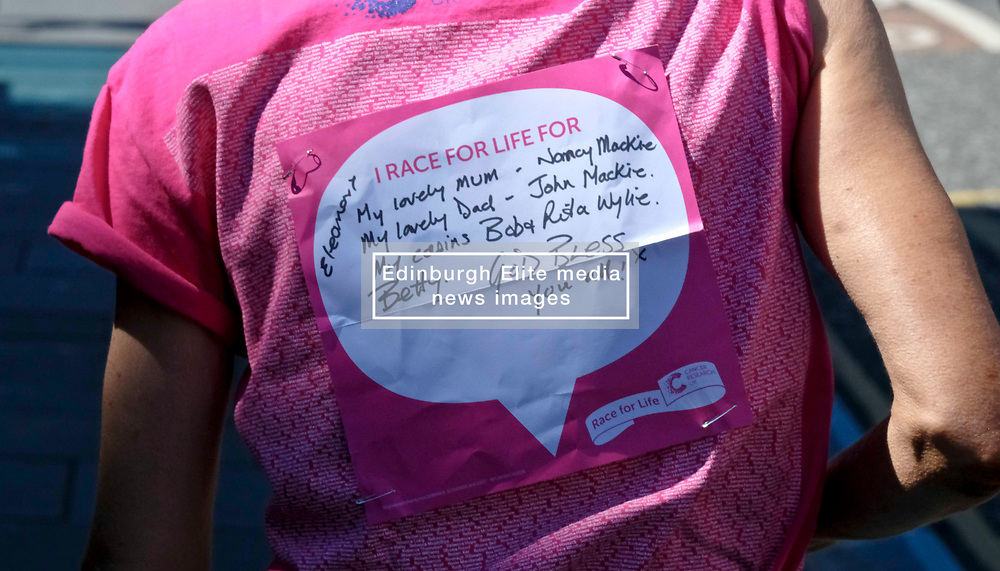 Pictured: <br /> <br /> Two thousand people gathered in Holyrood Park Edinburgh for Cancer Reasearch'e Race for Life . The runmners, the majority of whom were women, took part in 5K and 10K events. ,<br /> <br /> Ger Harley | EEm 24 June 2018