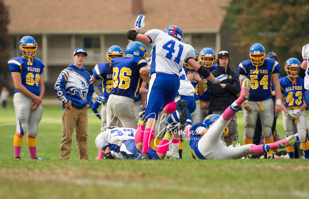 Varsity football Gilford versus Interlakes.  Karen Bobotas/ for the Laconia Daily Sun