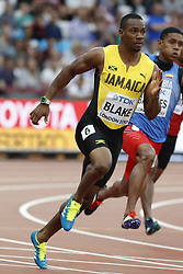 In the heats of the 200 meters men : Jamaica's Yohan Blake during the IAAF World Athletics 2017 Championships In Olympic Stadium, Queen Elisabeth Park, London, UK, on August 7th, 2017 Photo by Henri Szwarc/ABACAPRESS.COM