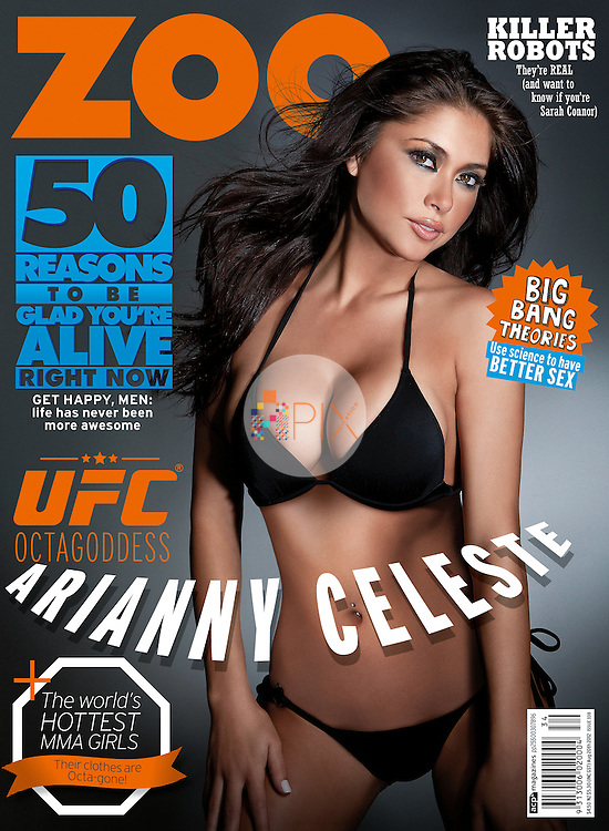 Arianny Celeste, the most popular UFC Octagon girl, is the cover/feature star for the August issue of Zoo Weekly magazine, Australia.<br />