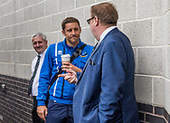 Michael Brown manager of Port Vale chats to Chairman Tony Fradley of Port Vale prior to the Sky Bet League 2 match at  Checkatrade.com Stadium, Crawley<br /> Picture by Liam McAvoy/Focus Images Ltd 07413 543156<br /> 05/08/2017
