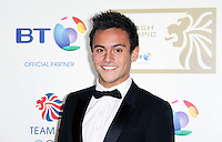 LONDON - NOVEMBER 30: Tom Daley attended the British Olympic Ball at the Grosvenor House Hotel, London, UK. November 30, 2012. (Photo by Richard Goldschmidt)