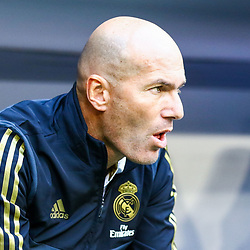 Real Madrid head coach Zinedine Zidane during the Audi Cup match between Real Madrid and Tottenham Hotspur on July 30th 2019<br /> <br /> Photo : Firo  / Icon Sport