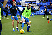 Peterborough Utd defender Jason Naismith (2) warming up before the EFL Sky Bet League 1 match between Peterborough United and Rochdale at London Road, Peterborough, England on 12 January 2019.