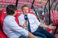 ALKMAAR - 25-08-2016, AZ - Vojvodina, AFAS Stadion, \fox, AZ trainer John van den Brom, interview.