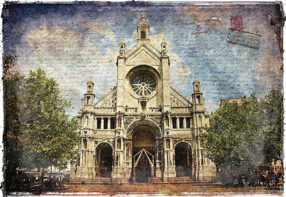 Sainte Catherine Church, Brussels, Belgium - Forgotten Postcard
