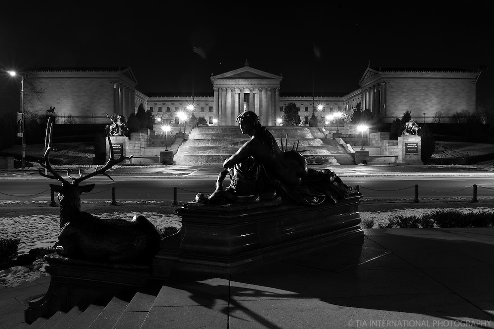 Philadelphia Museum of Art (monochrome)