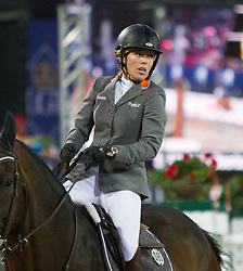 22.09.2012, Rathausplatz, Wien, AUT, Global Champions Tour, Vienna Masters, Grosser Preis von Wien, im Bild Meredith Michaels-Beerbaum (GER) auf Bella Donna// during Vienna Masters of Global Champions Tour, Grand Prix of Vienna at the Rathausplatz, Vienna, Austria on 2012/09/22. EXPA Pictures © 2012, PhotoCredit: EXPA/ Sebastian Pucher