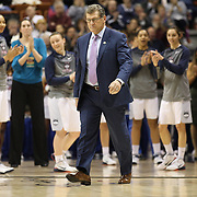 Geno Auriemma the UConn coach, receiving his award for coach of the year in the American Athletic Conference before the UConn Vs Cincinnati Quarterfinal Basketball game at the American Women's College Basketball Championships 2015 at Mohegan Sun Arena, Uncasville, Connecticut, USA. 7th March 2015. Photo Tim Clayton