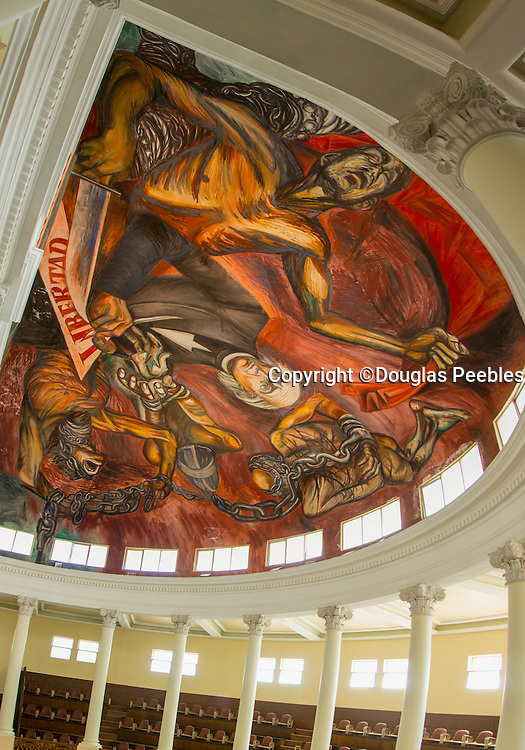 "José Clemente Orozco, Mural of Hildago signing degree to end slavery, ""The People and its Leaders"", Palacio de Gobierno, State Congress chamber, Guadalajara, Jalisco, Mexico"