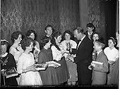 1959 - All Ireland Final of Gael Linn Children's Singing Competition at Francis  Xavier Hall