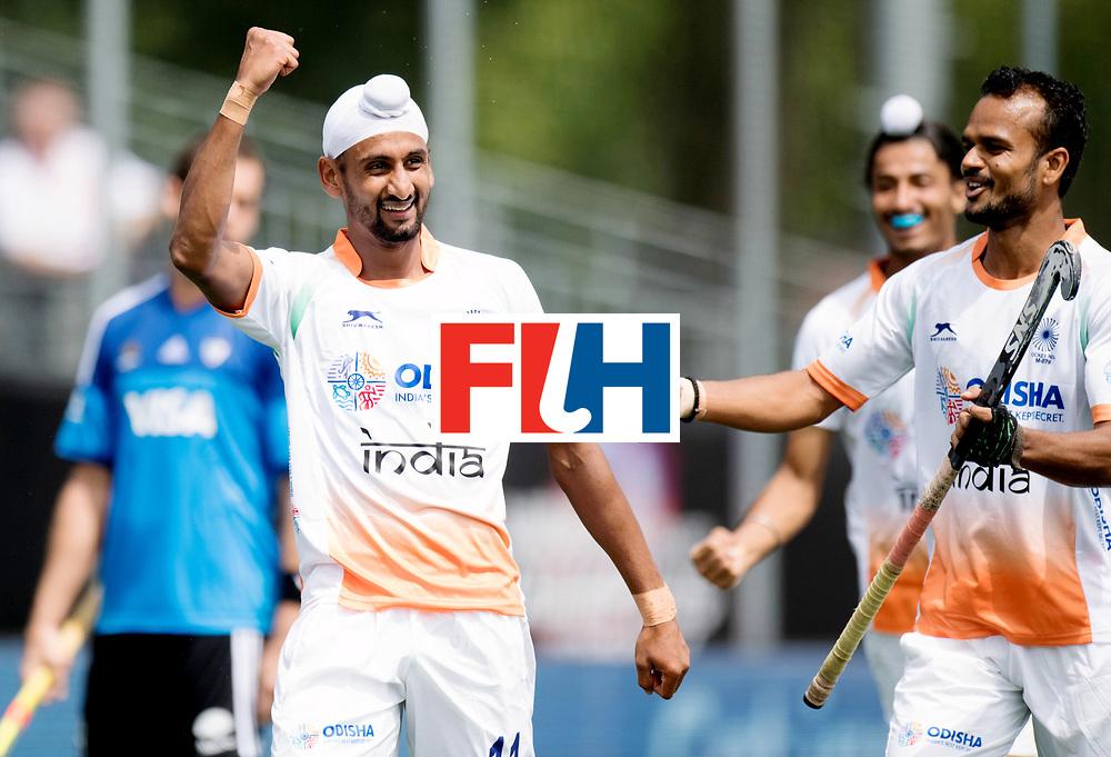 BREDA - Rabobank Hockey Champions Trophy<br /> India - Argentina<br /> Photo: Mandeep Singh celebrates.<br /> COPYRIGHT WORLDSPORTPICS FRANK UIJLENBROEK
