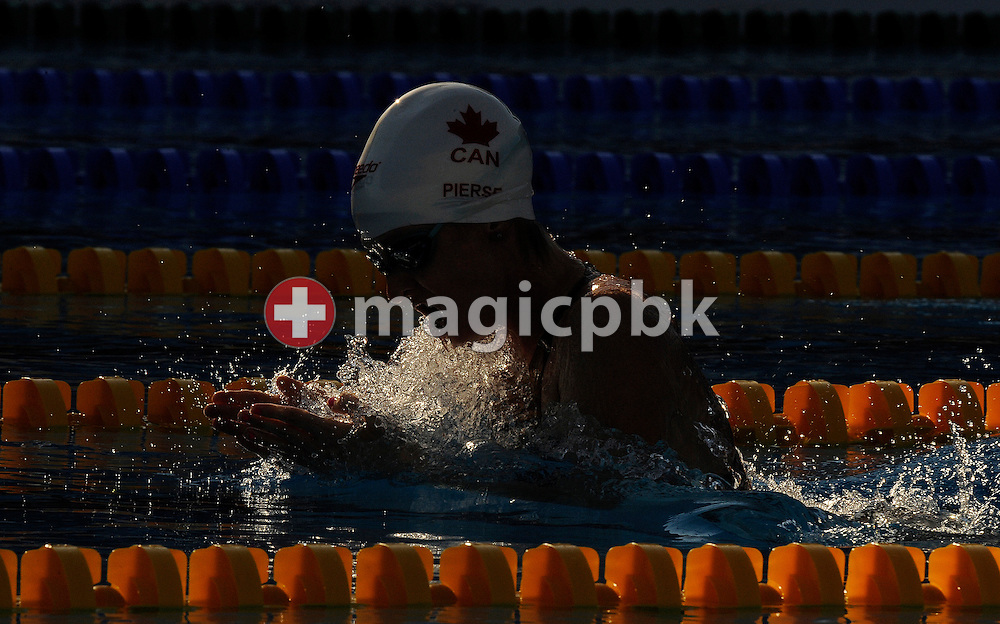 Annamay PIERSE of Canada on her way to clock in a new world record in the women's 200m breaststroke semifinal at the 13th FINA World Championships at the Foro Italico complex in Rome, Italy, Thursday, July 30, 2009. (Photo by Patrick B. Kraemer / MAGICPBK)
