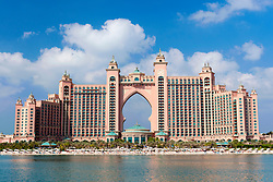 The Atlantis Hotel located on Palm Jumeirah in Dubai in United Arab Emirates