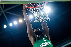 Mikael Hopkins of KK Cedevita Olimpija during EuroCup basketball match between teams KK Cedevita Olimpija and Nanterre 92 in Round 4, Arena Stozice, 23. October, Ljubljana, Slovenia. Photo by Grega Valancic / Sportida