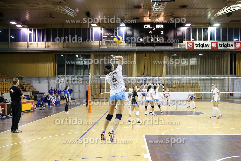 Petra Vrhovnik of Calcit Volley at volleyball match between OK Calcit Ljubljana and OK Braslovce in 1st Round of 1. DOL 2015/16 , on October 7, 2015 in Hala Tivoli, Ljubljana, Slovenia. Photo by Matic Klansek Velej / Sportida