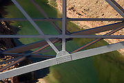Detail of Navajo Bridge structure over Colorado River, Marble Canyon, Grand Canyon National Park, near Lee's Ferry, Arizona, US