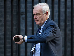 © Licensed to London News Pictures. 19/10/2019. London, UK. SIR EDWARD LISTER, Chief of Staff to Boris Johnson,  is seen checking his watch as he arrives at 10 Downing Street in London on the day that Parliament will vote on a new agreement between UK government and the EU over Brexit. Parliament is sitting on a Saturday for the first time since 1982. Photo credit: Ben Cawthra/LNP