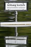 Lucerne, SWITZERLAND<br /> <br /> Signage. 2016 European Olympic Qualifying Regatta, Lake Rotsee.<br /> <br /> Sunday  22/05/2016<br /> <br /> [Mandatory Credit; Peter SPURRIER/Intersport-images]