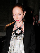 06.OCTOBER.2009. LONDON<br /> <br /> MODEL LILY COLE LEAVING THE AFTERPARTY FOR HER NEW FILM THE IMAGINARIUM OF DOCTOR PARNASSUS WHICH WAS HELD AT THE LANGHAM HOTEL LOOKING A LITTLE WORSE FOR WEAR<br /> <br /> BYLINE: EDBIMAGEARCHIVE.COM<br /> <br /> *THIS IMAGE IS STRICTLY FOR UK NEWSPAPERS AND MAGAZINES ONLY*<br /> *FOR WORLD WIDE SALES AND WEB USE PLEASE CONTACT EDBIMAGEARCHIVE - 0208 954 5968*