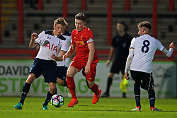 STEVENAGE, ENGLAND - Monday, September 19, 2016: Liverpool's captain Harry Wilson in action against Tottenham Hotspur during the FA Premier League 2 Under-23 match at Broadhall. (Pic by David Rawcliffe/Propaganda)