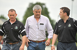 Tourmakeady manager Padraig Burke  Padraig de B&uacute;rca centre with selectors Ray Prendergast and Ciaran Walsh.<br /> <br /> Pic Conor McKeown
